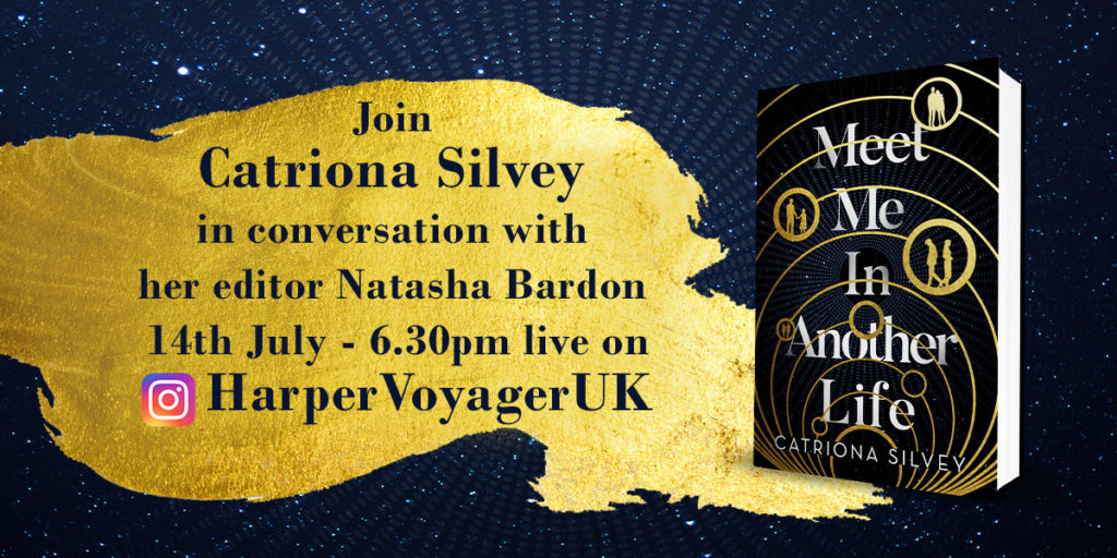 Flyer for Instagram Live event taking place on the Harper Voyager UK channel at 6.30pm UK time on Weds 14th July